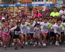 Los niños también pueden correr