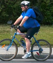 ciclista con sobrepeso