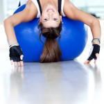 gym woman doing pilates